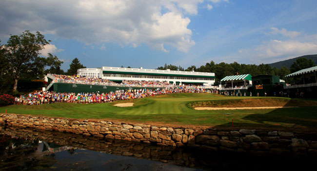 The 18th green at the Old White TPC course could be pivotal on cut day at the Greenbrier Classic.