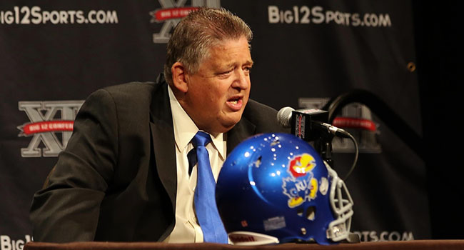 """Kansas signed 15 junior college prospects last February, a move coach Charlie Weis called """"a necessity"""" after the Jayhawks' 1-11 finish in 2012."""