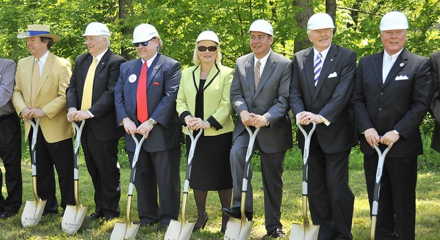 Gov. Earl Ray Tomblin and others were all smiles when ground was broken for the yet-to-be constructed plant in May 2011.