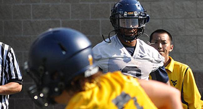 Running back Charles Sims grew up in Houston and also played his first four seasons of college football there. But now he says he's acclimating well to life in West Virginia.