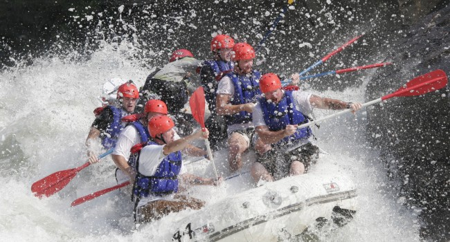 Rafters run through Pillow Rock on the Upper Gauley.  Additional flows announced for 2013 mean there will be a lot more of this very soon