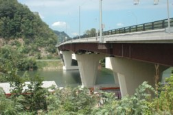 The Star City Bridge carries Routes 19 and 7 over the Monongahela River near Morgantown.