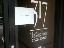 317 Steakhouse on Stratton Street in Logan was closed Tuesday as part of the investigation.