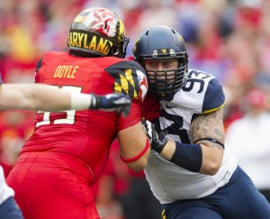 As a sophomore, Kyle Rose made 49 tackles, tying for the lead among WVU's defensive linemen.