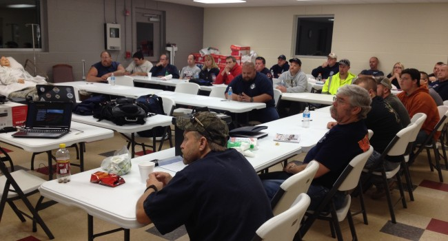 Numerous agencies were represented in Monday's training class