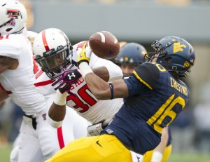 West Virginia's Terrell Chestnut forced a fumble on this Texas Tech kick return, the highlight of his 2013 season spent primarily on special teams.