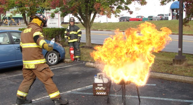 Kanawha County emergency officials demonstrated how quickly a grease fire can turn dangerous in Cross Lanes Thursday.