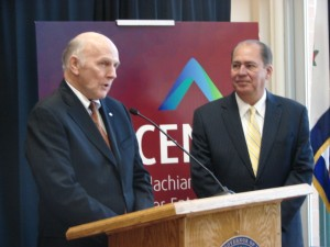David Peebles, Odebrecht Director of Business Development, was with Gov. Earl Ray Tomblin at the November 2013 announcement.