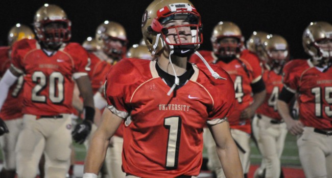 University's Jack Armstrong (1) committed to play football at William & Mary.