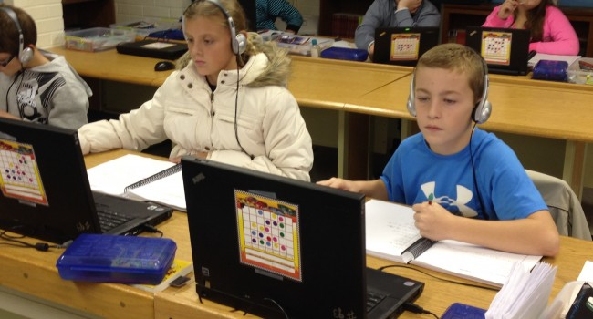 The Reasoning Mind curriculum is already being used at some schools in Cabell and Marion counties. These students at Davis Creek Elementary in Barboursville were working Wednesday.
