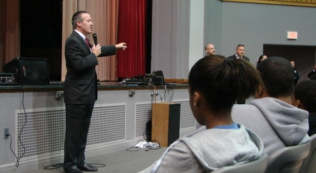 U.S. Attorney Booth Goodwin has spoken to students in more than two dozen schools in recent weeks.
