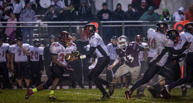 No. 8 George Washington (9-2) defeated Oak Hill (8-3) 21-14 in overtime during week one of the high school football playoffs. It was Oak Hill coach Eddie Souk's last with the Red Devils.