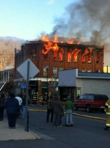 Wv Metronews Marlinton City Block Goes Up In Flames