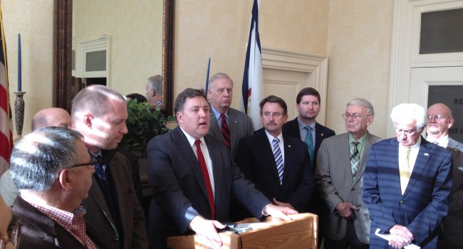 House Speaker Miley and House leadership team announces tour during Wednesday press conference