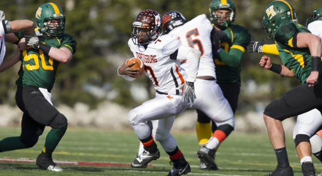 Martinsburg's Malique Watkins led his team to the AAA championship over Huntington last December.