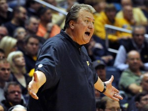 West Virginia coach Bob Huggins says No. 11 Oklahoma State is lethal in transition.