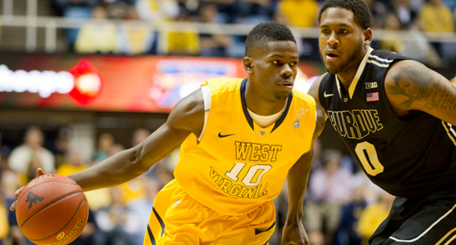 Erron Harris scored 24 points but West Virginia fell 73-70 to Purdue on Sunday at the WVU Coliseum.