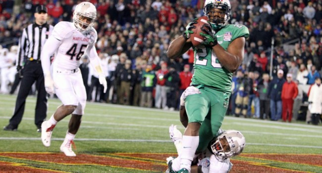 Gator Hoskins (26) pulls in the go-ahead touchdown for The Herd.