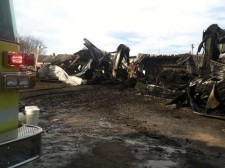 The Saturday morning fire destroyed the tire store in Summersville. The structure was on the ground within 90 minutes of the initial call.