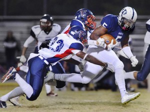 Running back Donte Thomas-Williams of Durham, N.C., is a four-star prospect who's considering West Virginia and N.C. State.