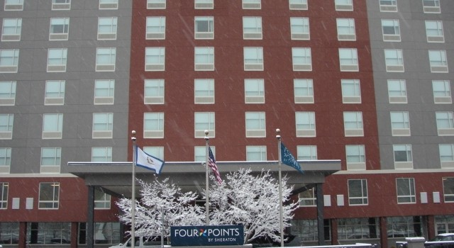 Union workers helped remake the former Ramada Inn in downtown Charleston to the new Four Points by Sheraton hotel.