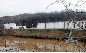 Most all of these tanks along Elk River in Charleston will be gone by the end of the month.