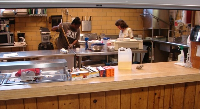 School cooks at Kanawha City Elementary School were preparing the kitchen Tuesday with the anticipation of school resuming Wednesday, which didn't happen.