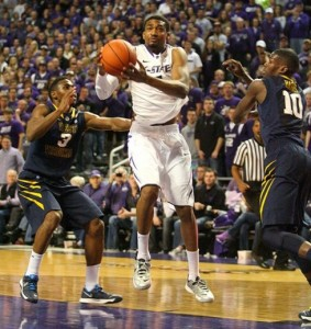 Shane Southwell scored 20 points in 24 minutes a K-State routed West Virginia 78-56 on Jan. 18. The teams meet again Saturday in Morgantown.