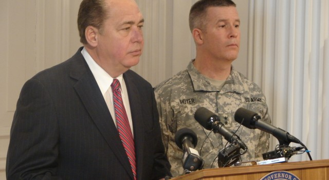 Gov. Earl Ray Tomblin and state Adjutant General Jim Hoyer answered lots of questions during water crisis. The report released Friday said the state struggled at times to effectively communicate.