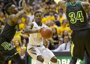 Eron Harris scored 32 points in West Virginia's 88-75 loss to Baylor, one of his best performances during a breakout sophomore season.