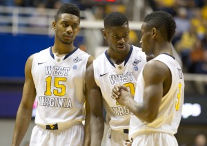 Terry Henderson, Eron Harris (middle) and Juwan Staten figured to comprise one of the Big 12's best backcourts, but now two members have transferred.