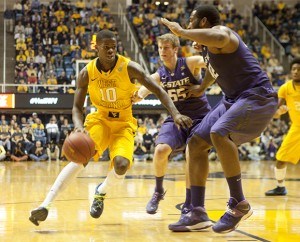 Eron Harris scored 11 points in the first half but was held scoreless in the final 20 minutes.