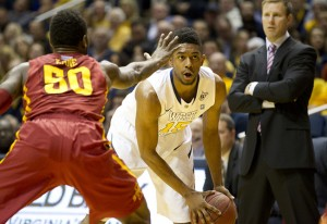 Terry Henderson scored 16 points in West Virginia's 102-77 rout of Iowa State, but the school tweeted that he'll miss Wednesday night's game with a lingering illness