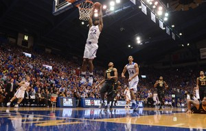Kansas freshman Andrew Wiggins leads the Jayhawks in scoring at 15 points per game as West Virginia visits Allen Fieldhouse.