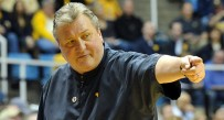 Bob Huggins directs his team during WVU's 81-71 win over Kansas State.