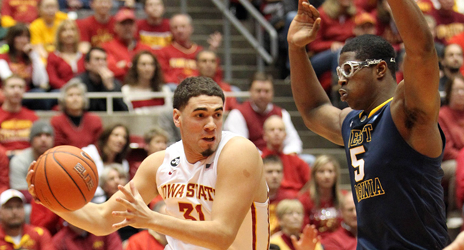 Georges Niang scored 24 points and No. 15 Iowa State put away West Virginia 83-66 in Ames on Wednesday night.