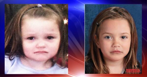 The National Center for Missing and Exploited Children says this is what Aliayah Lunsford may look like at 5.