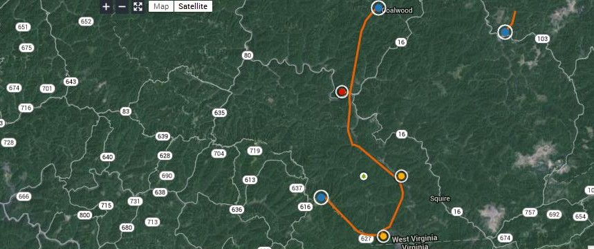 Appalachian Power released a map of the project Monday.