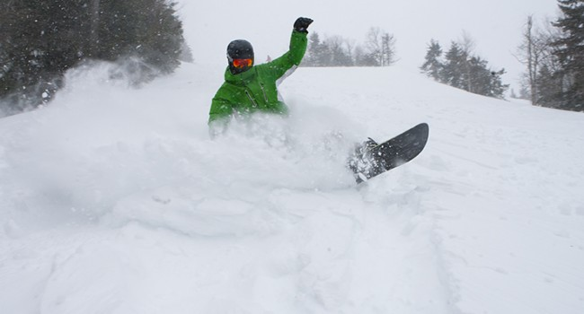 The powder was good this week for this snowboarder and Snowshoe.