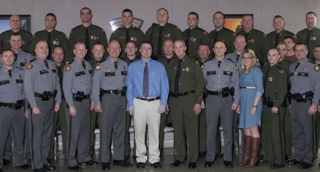 Troopers were honored in Tuesday ceremony.