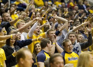 West Virginia students were cranked up for Monday night's visit from No. 11 Iowa State.