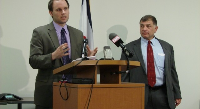 WV TAP's Andrew Whelton and Jeff Rosen addressed reporters Friday in Charleston.