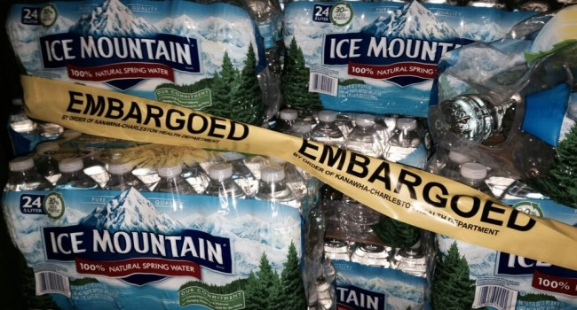 Ice Mountain-brand bottled water was pulled from three Kanawha County schools Wednesday because of musty odor and bad taste.