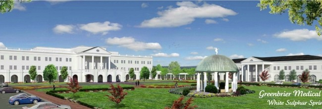 An artist's rendering of the Greenbrier Medical Institute first announced in August 2011.