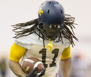 West Virginia receiver Kevin White caught a team-high five touchdowns but had only 35 receptions overall.