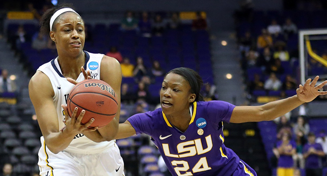 Asya Bussie and West Virginia are in a dogfight in Baton Rouge, having trailed by as much as nine points in the second half.