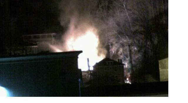 The large fire happened on Cole Street in Logan Monday night.