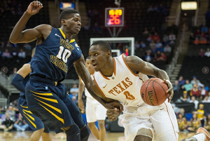 Eron Harris and West Virginia trailed Texas by 30 in the Big 12 quarterfinals before suffering a 66-49 loss.