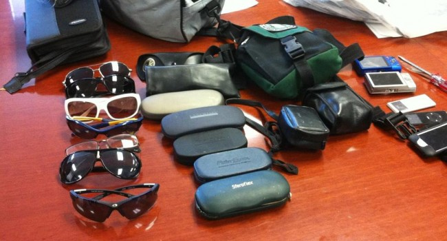 These are some of the items Charleston police officers have uncovered after a series of vehicle break-ins.