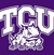 TCU logo scored